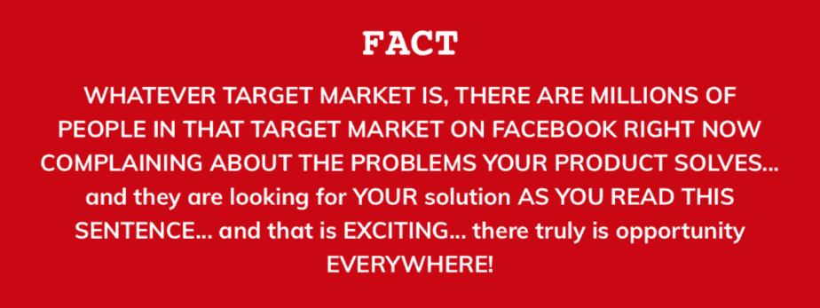 Factbox showing the reason for finding your target market