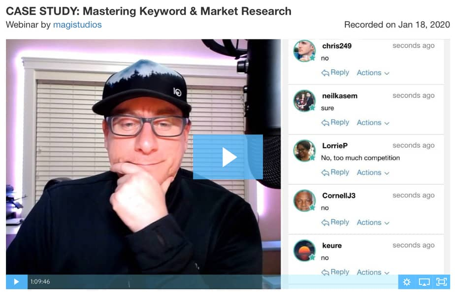 Wealthy affiliate review 2020 - Jay is the live webinar trainer at Wealthy Affiliate