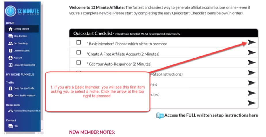 12 minute affiliate home page
