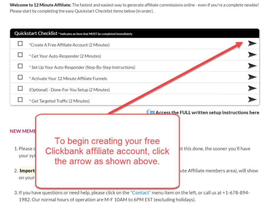 12 Minute Affiliate - Creating a Clickbank Account