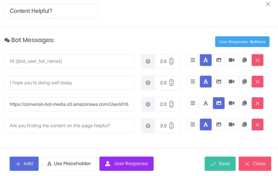ConversioBot Instruction Set For A Chatbot Block